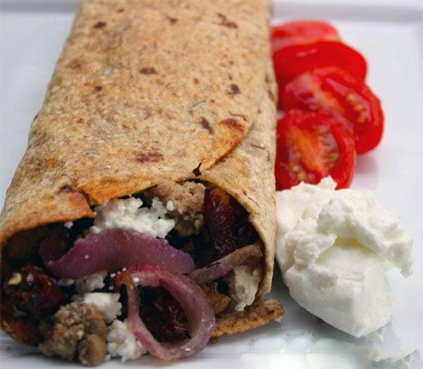 Greek Turkey Wraps