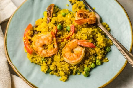Quinoa and Shrimp Paella