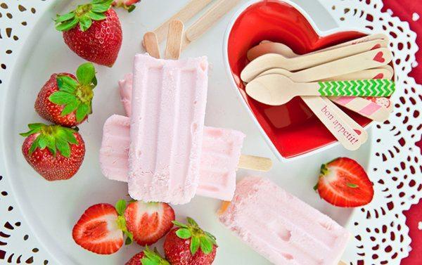 Strawberry Pops