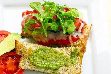 Veggie & Pesto Sandwich