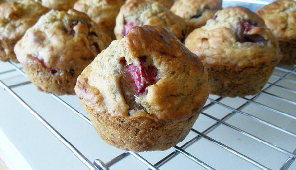 Clean-Eating Strawberry Banana Muffins