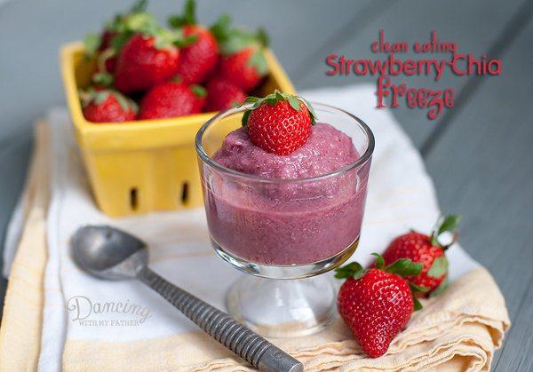 Strawberry Chia Freeze