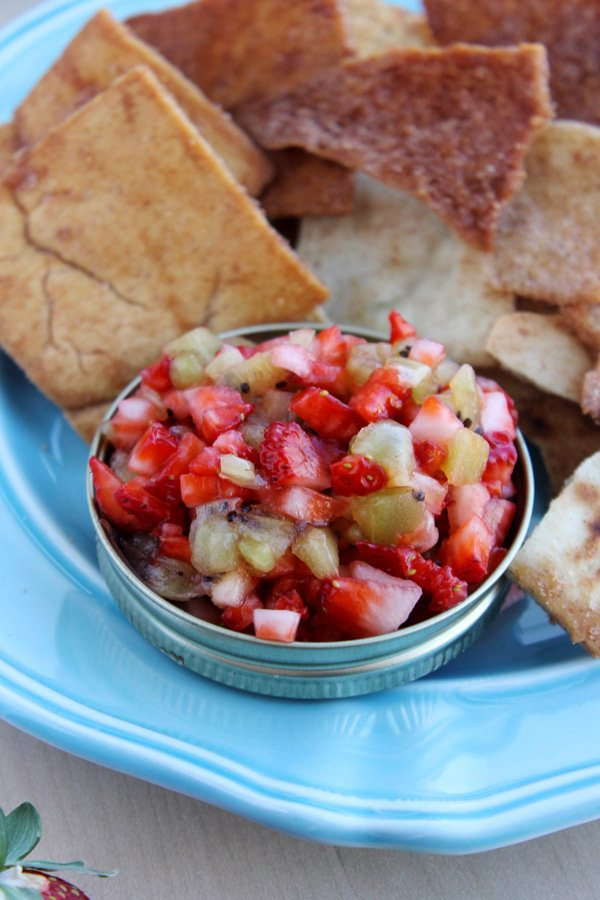 Strawberry Kiwi Dessert Salsa
