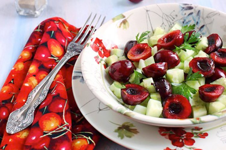 5-Minute Sweet and Spicy Cherry Salad