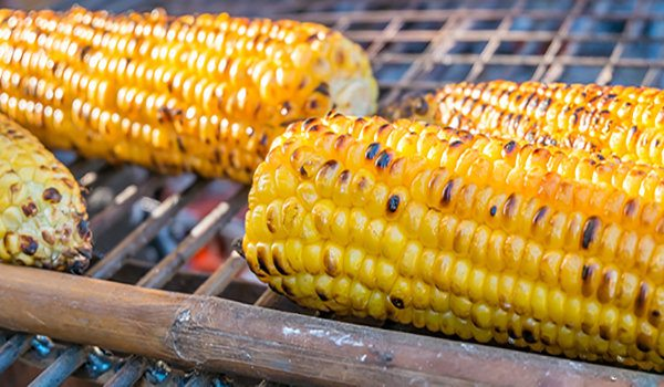 Grilled Corn on the Cob with Basil, Olive Oil, and Sea Salt