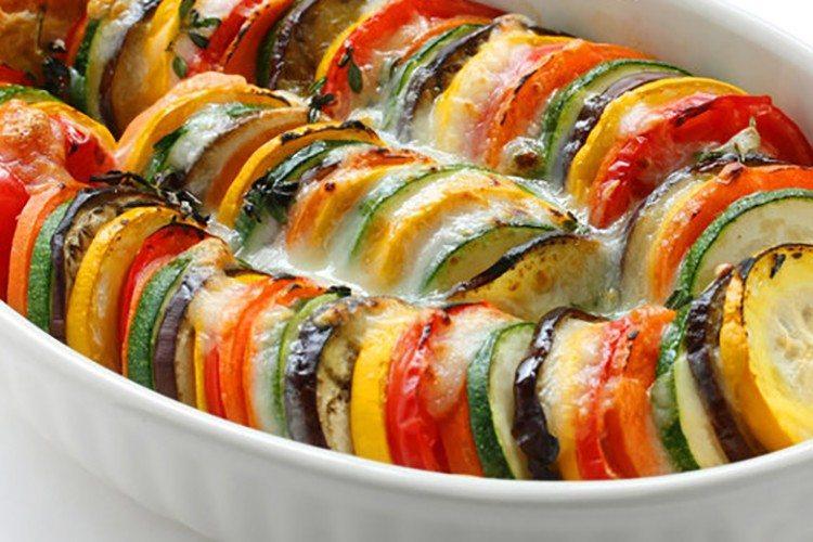 Eggplant and Zucchini Gratin by Julia Child