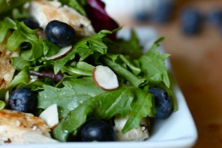 Grilled Chicken and Blueberry Salad