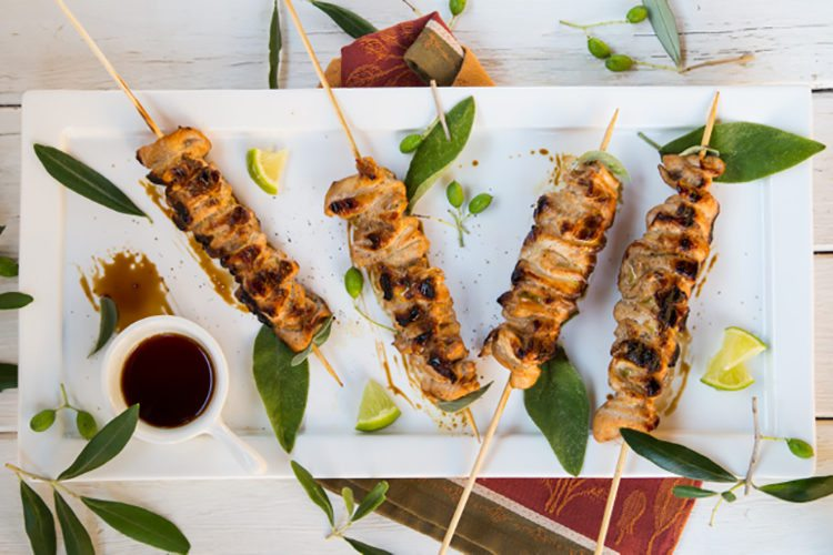 Healthy Soy-Lime Chicken Skewers