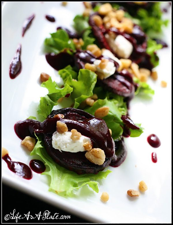 Roasted Beets with Blueberry Balsamic Reduction