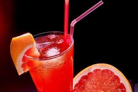 Zingy Pink Grapefruit Soda