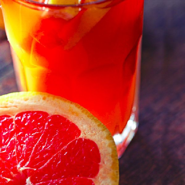 Zingy Pink Grapefruit Soda
