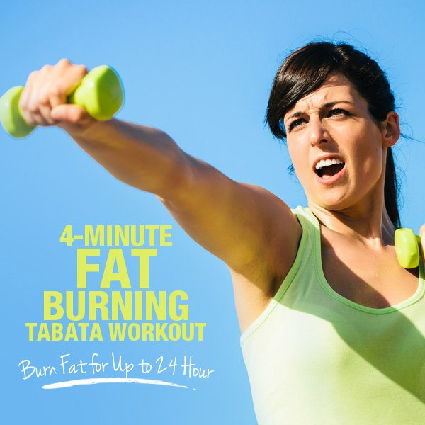 4 Minute Fat Burning Tabata Workout - Burn Fat up to 24 Hours