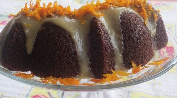 Orange Glazed Carrot Cake