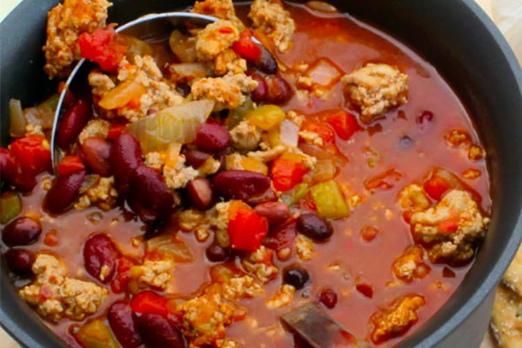 Slow Cooker Spicy Three Bean Chili