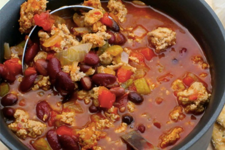 spicy turkey chili for freezing