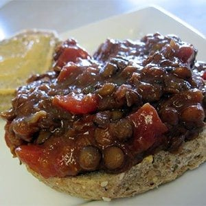 Crock Pot Sloppy Joes made with Lentils