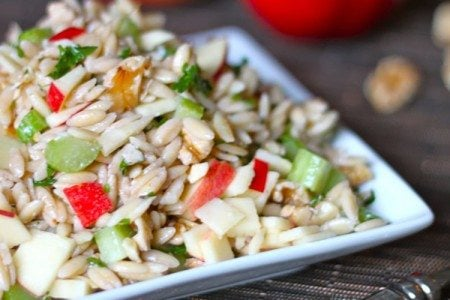 Farro Salad with Apples and Walnuts