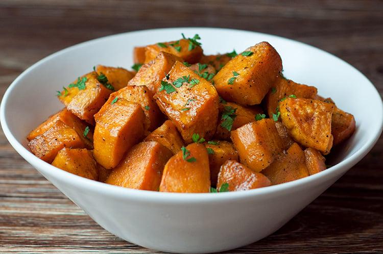 Slow Cooker Sweet & Savory Sweet Potatoes
