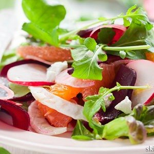 Citrus and Spinach Salad with Creamy Lemon Dressing