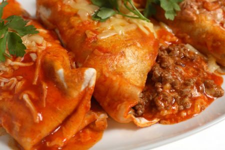 Slow Cooker Beefed-Up Enchiladas