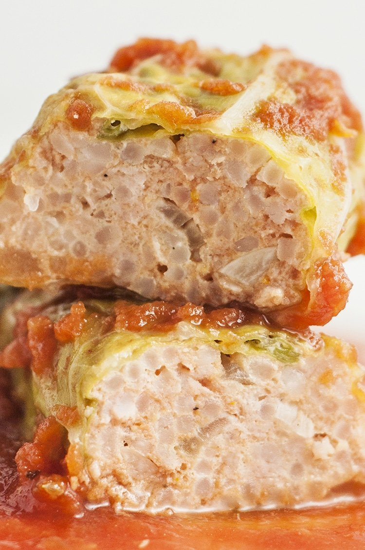 Slow Cooker Stuffed Cabbage Rolls - a mouthwatering Skinny Ms. Classic Recipe