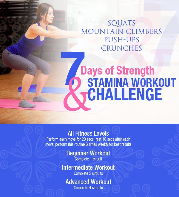 7-Day Strength & Stamina Workout Challenge