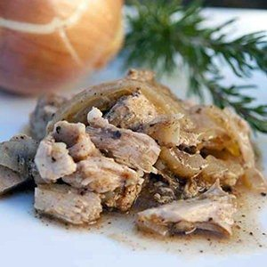 Slow Cooker Shredded Rosemary and Onion Pork Chops