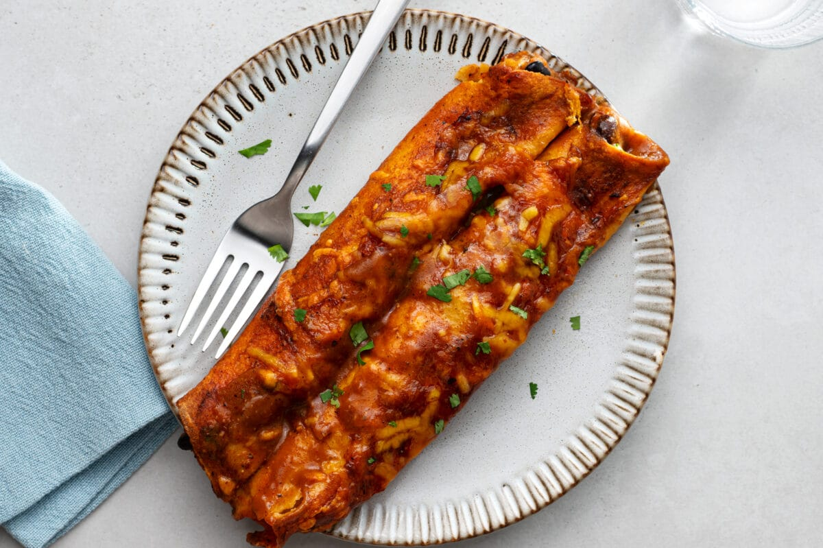 Our slow cooker vegetarian enchiladas will even satisfy the meat eaters in your family.