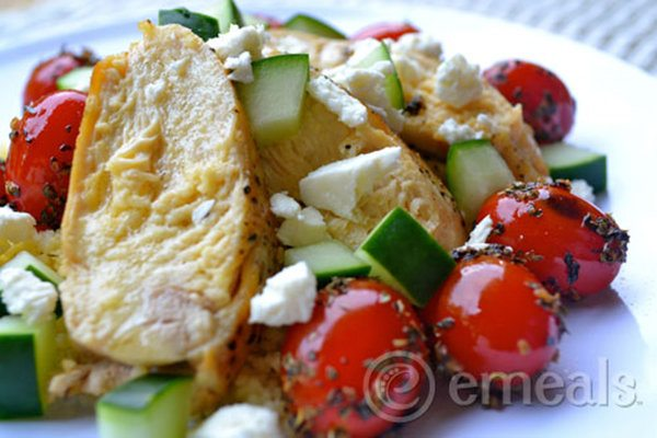 Chicken with Feta and Tomatoes