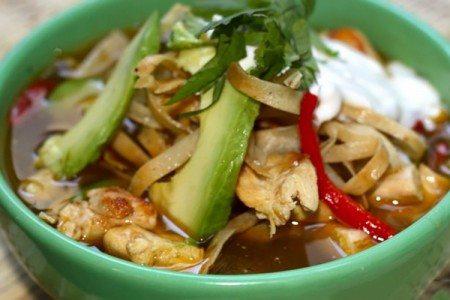 Slow Cooker Chicken Fajita Tortilla Soup