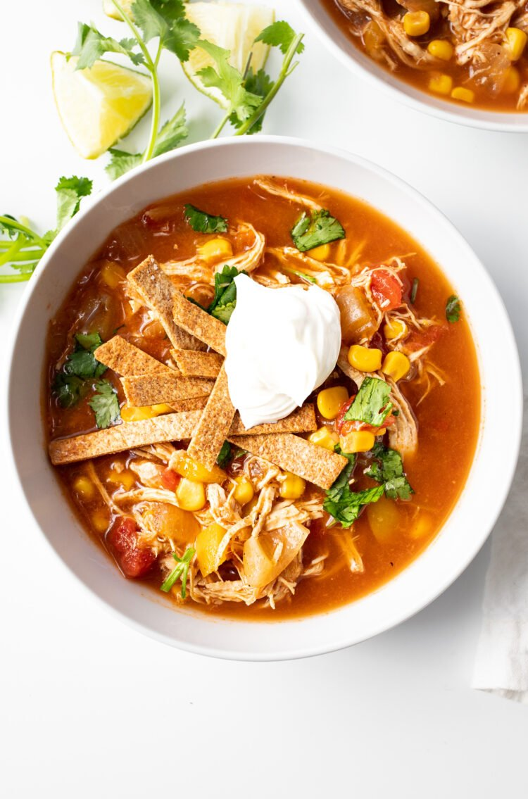 This tasty chicken soup is made with healthy ingredients you can feel good about!