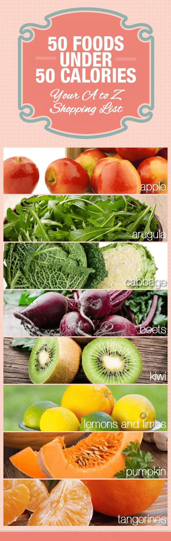 50 Foods Under 50 Calories