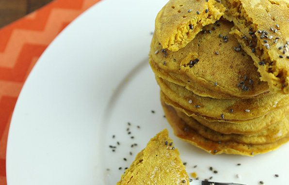Sweet Potato Chia Seed Pancakes