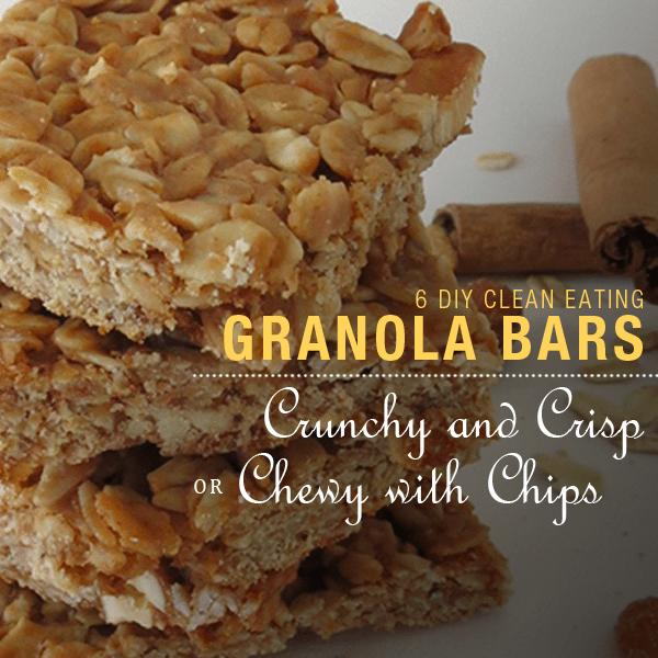 6 DIY Clean Eating Granola Bars