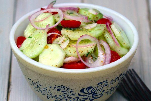 Classic Cucumber and Tomato Salad