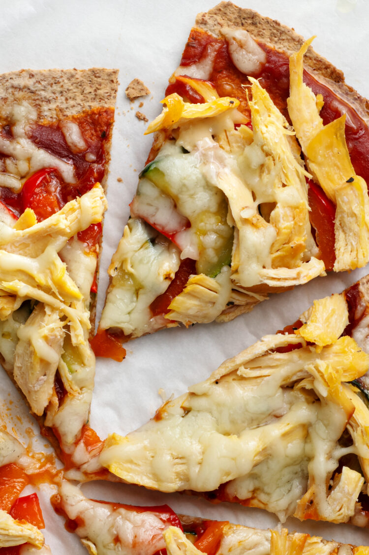 This super simple pizza is a great after school snack or light dinner option!