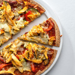 Our clean-eating bbq chicken pizza is so flavorful yet good for you too!