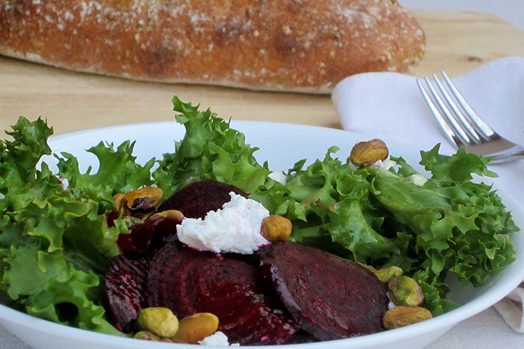 Endive Salad with Roasted Beets and Pistachios