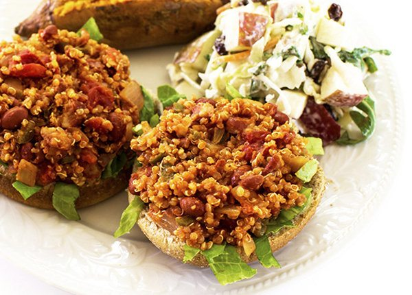 Quinoa and Bean Sloppy Joes