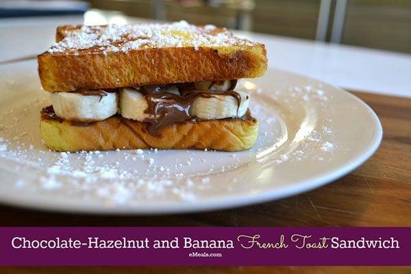 Skinny Nutella- Banana French Toast Sandwich