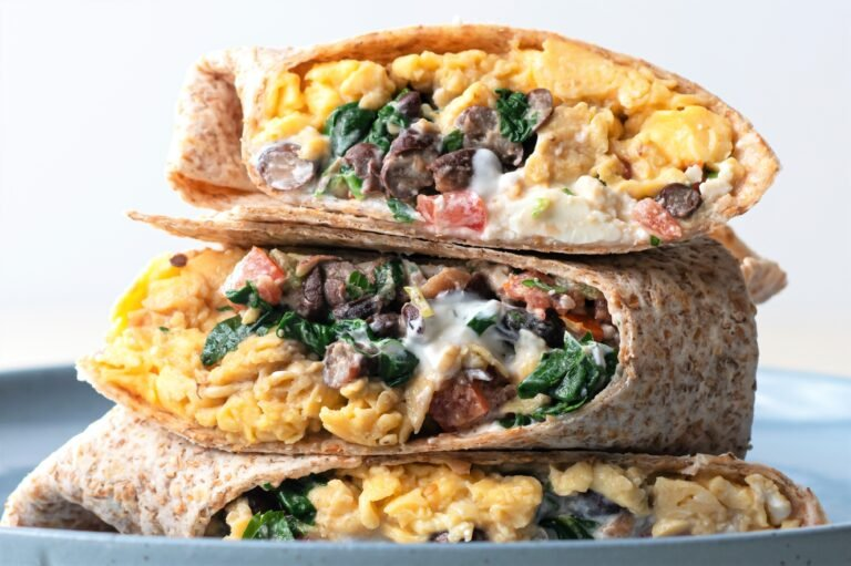 Grab one of these high-protein wraps and get your day started off right!