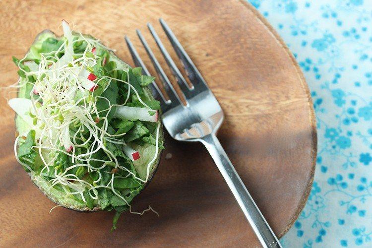 Spring Salad in an Avocado