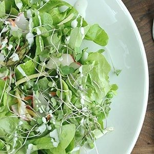 Summer Salad with Clean Eating Buttermilk Dressing