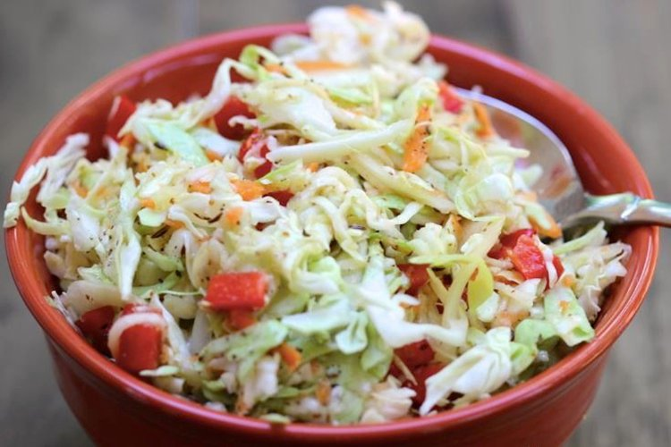 Skinny Sweet and Tangy Cole Slaw