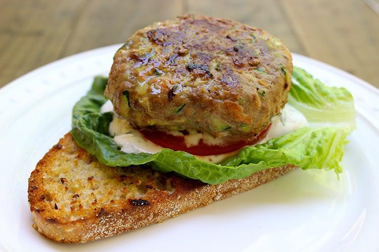 Grilled Turkey Veggie Burger