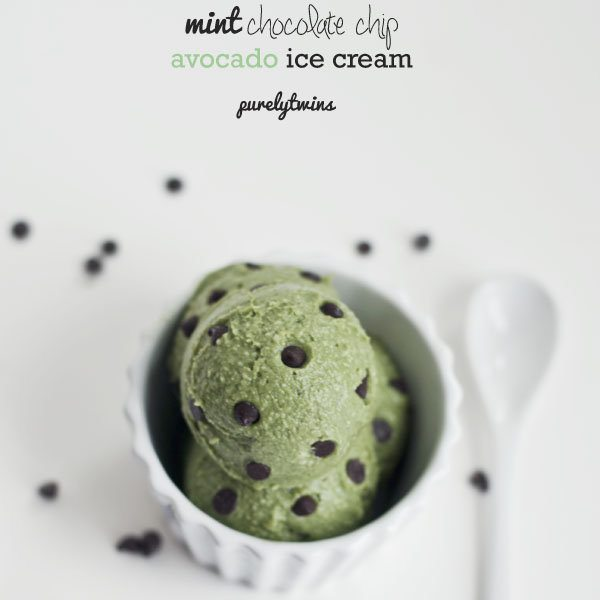 mint chocolate chip avocado ice cream