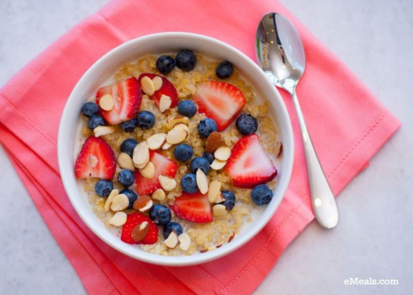 Berry Almond Breakfast Quinoa