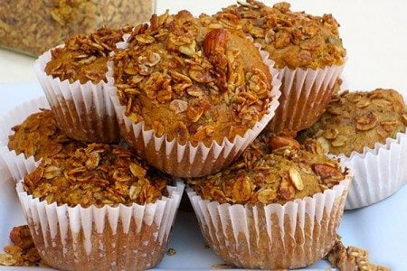 Carrot & Zucchini Whole Grain Muffins