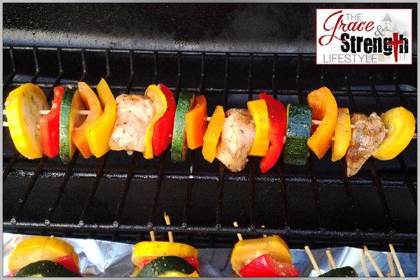 Clean-Eating Grilled Chicken & Veggie Kabob Marinade