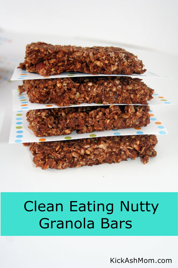 Clean-Eating Nutty Granola Bars